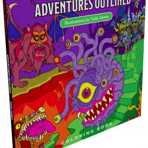 Adventure Outlined Colouring Book