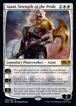 Ajani, Strength of the Pride (Prerelease Promo) (Preorder, Release date 12 July)