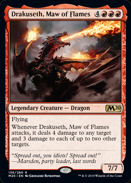 Drakuseth, Maw of Flames (Prerelease Promo) (Preorder, Release date 12 July)