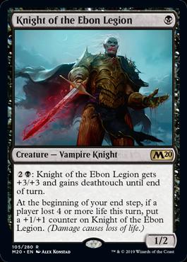 Knight of the Ebon Legion (Foil) (Preorder, Release date 12 July)