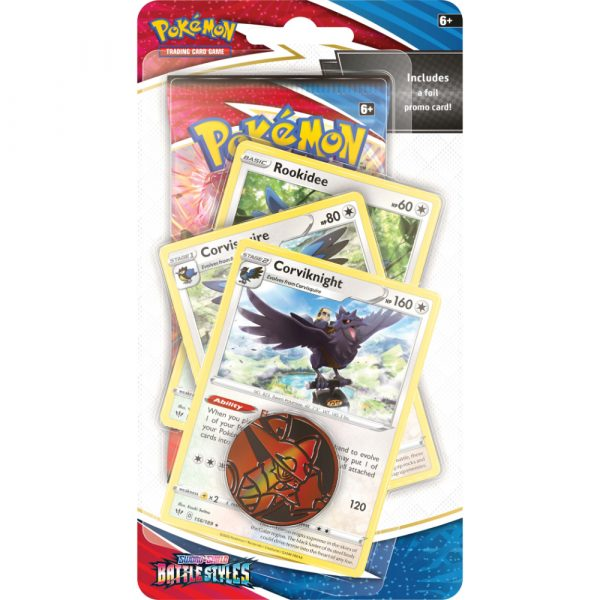 Pokemon Sword & Shield 5: Battle Styles - Premium Blister (Corviknight)